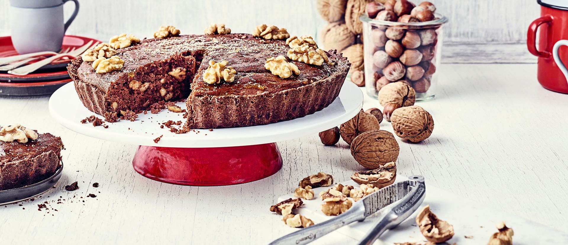 Schoko Walnuss Kuchen Haselnuss