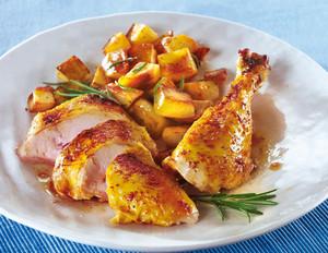 Ofen-Hähnchen mit Honig-Paprika-Würze