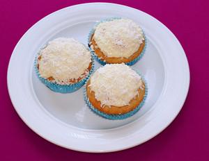 Schnee-Cupcakes