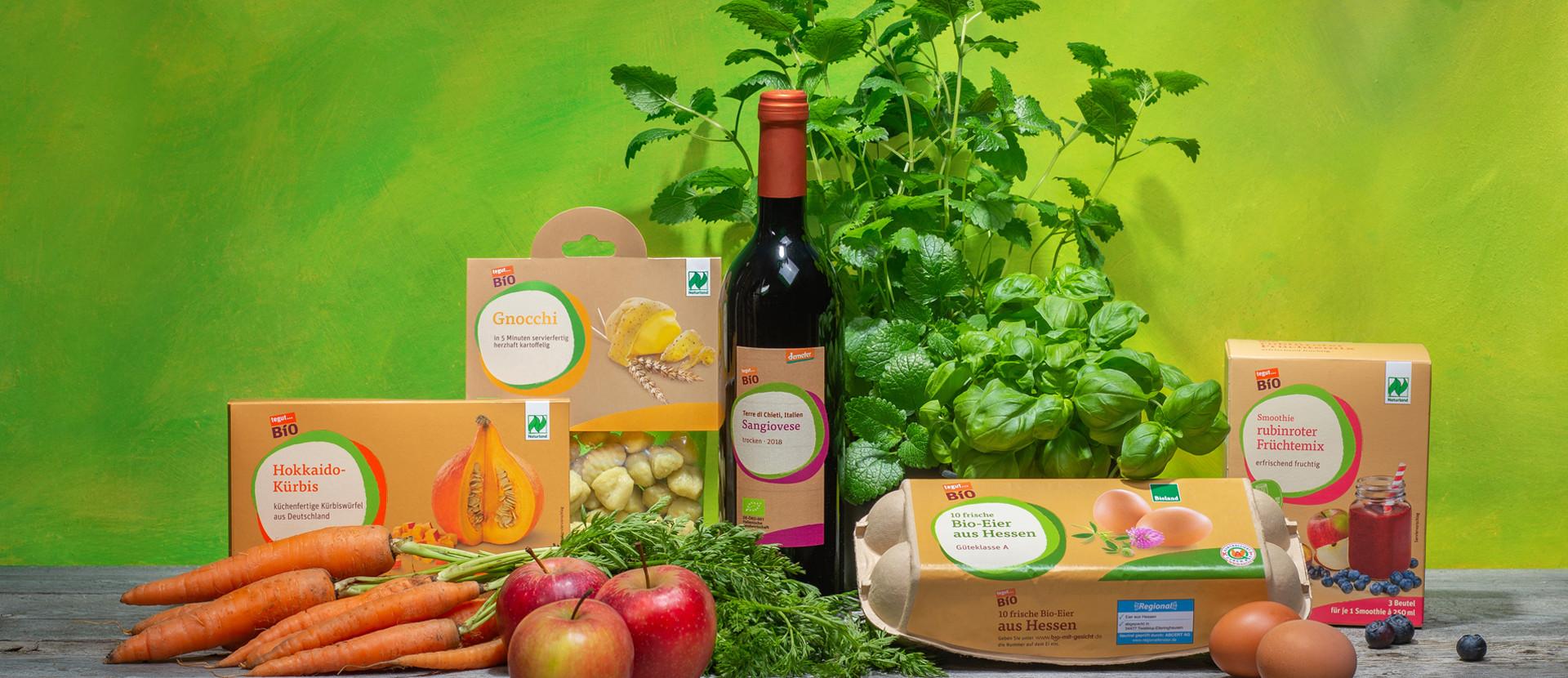 verschiedene tegut Bio Produkte