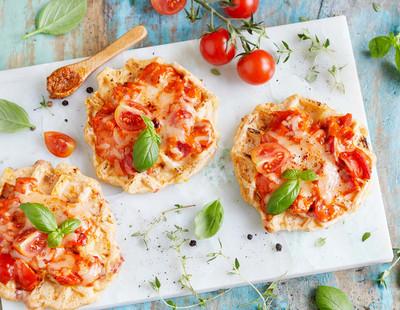 Pizzawaffeln mit Pesto