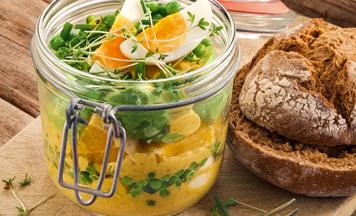 Avocado Eiersalat Currycreme