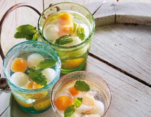 Melonen-Bowle mit Zitronenmelisse