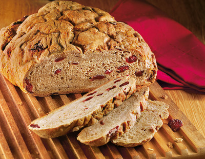 Adventsbrot mit Cranberries