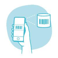 Scanne deine Produkte mit deinem Smartphone