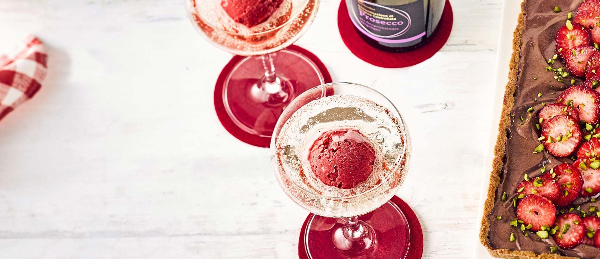 Erdbeeren Prosecco Glaeser