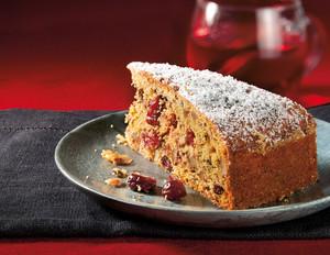 Apfelmus-Schokoladenkuchen mit Cranberries