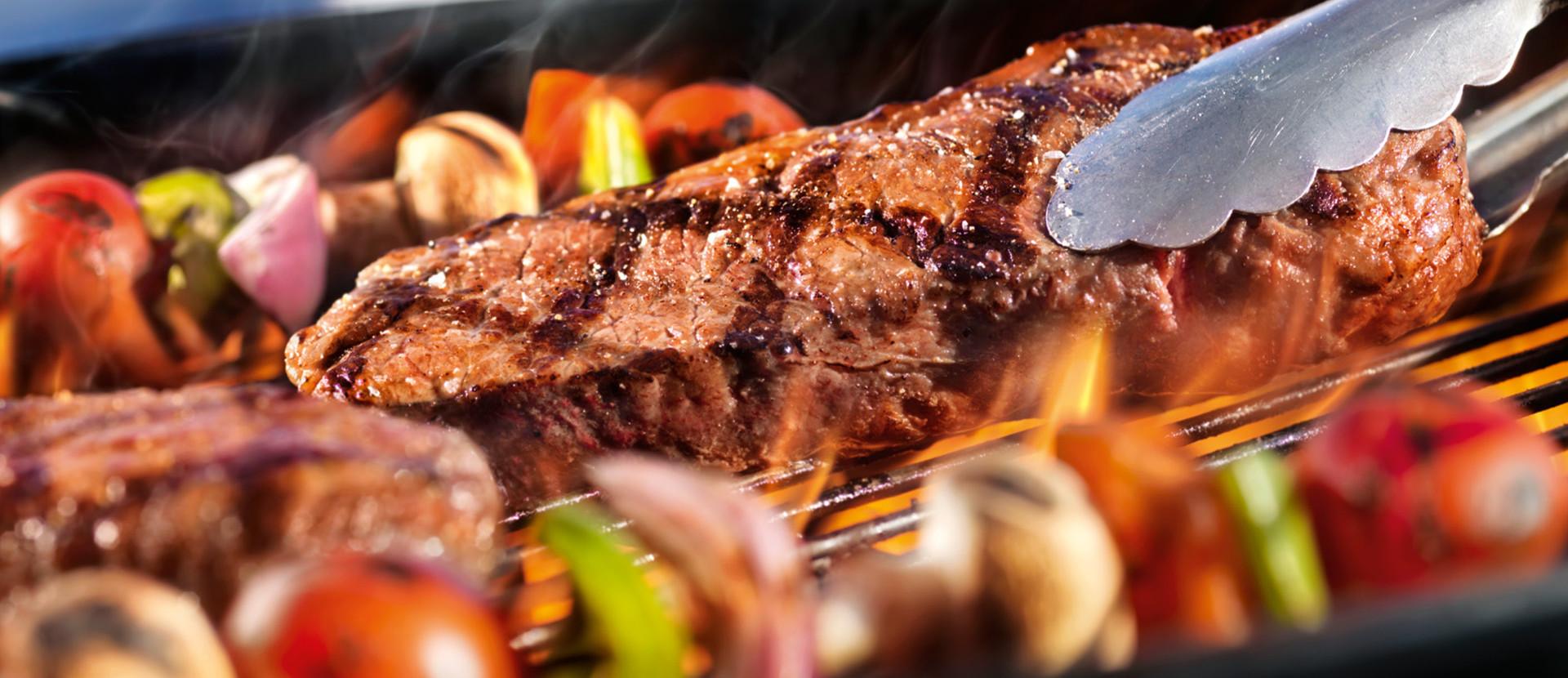 Grillen Steak Spiesse auf Grill