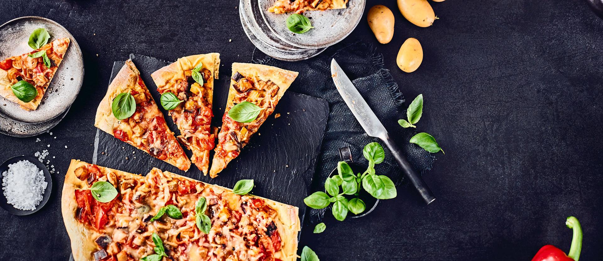 Ratatouille-Kartoffelpizza