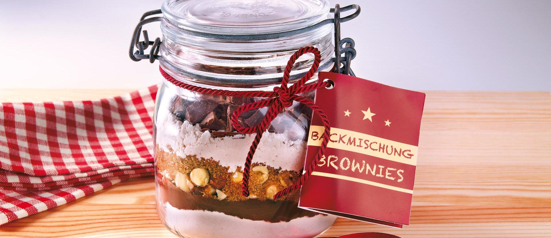 Brownie-Backmischung - fruchtig & nussig
