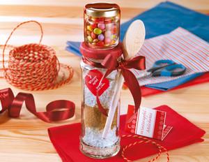 Winterapfel-Milchreis mit Konfetti