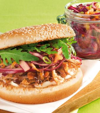 Pulled Pork Burger Kohlsalat