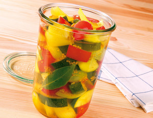 Curry-Zucchini im Glas