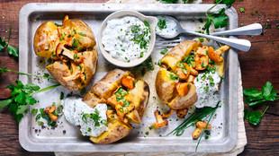 Ofenkartoffeln mit Pfifferlingen