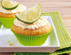 Limetten-Mascarpone-Cupcakes
