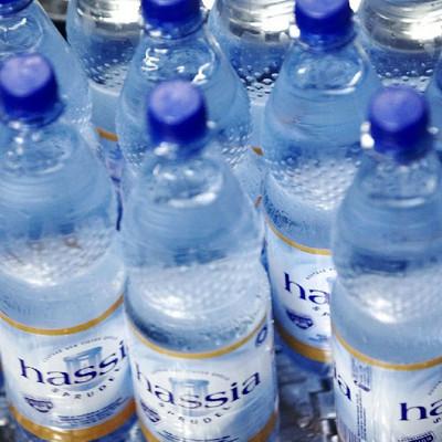 hassia Wasserflaschen von oben