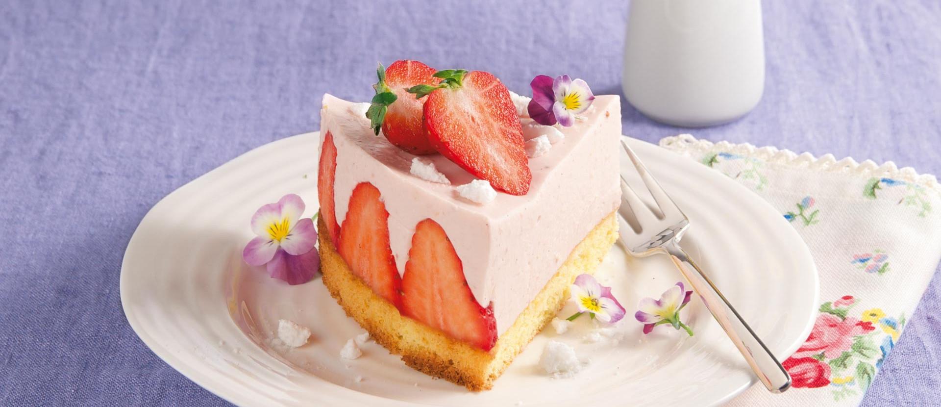 Kleiner Erdbeer-Cheesecake