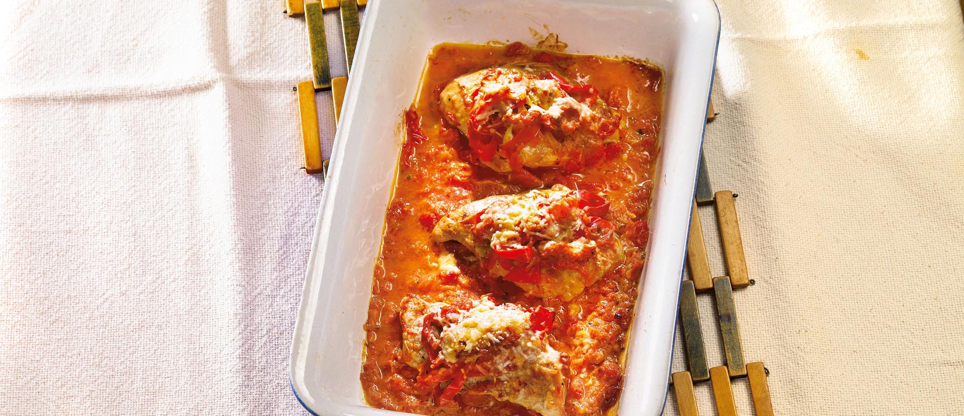 Pikante Schnitzel aus dem Ofen