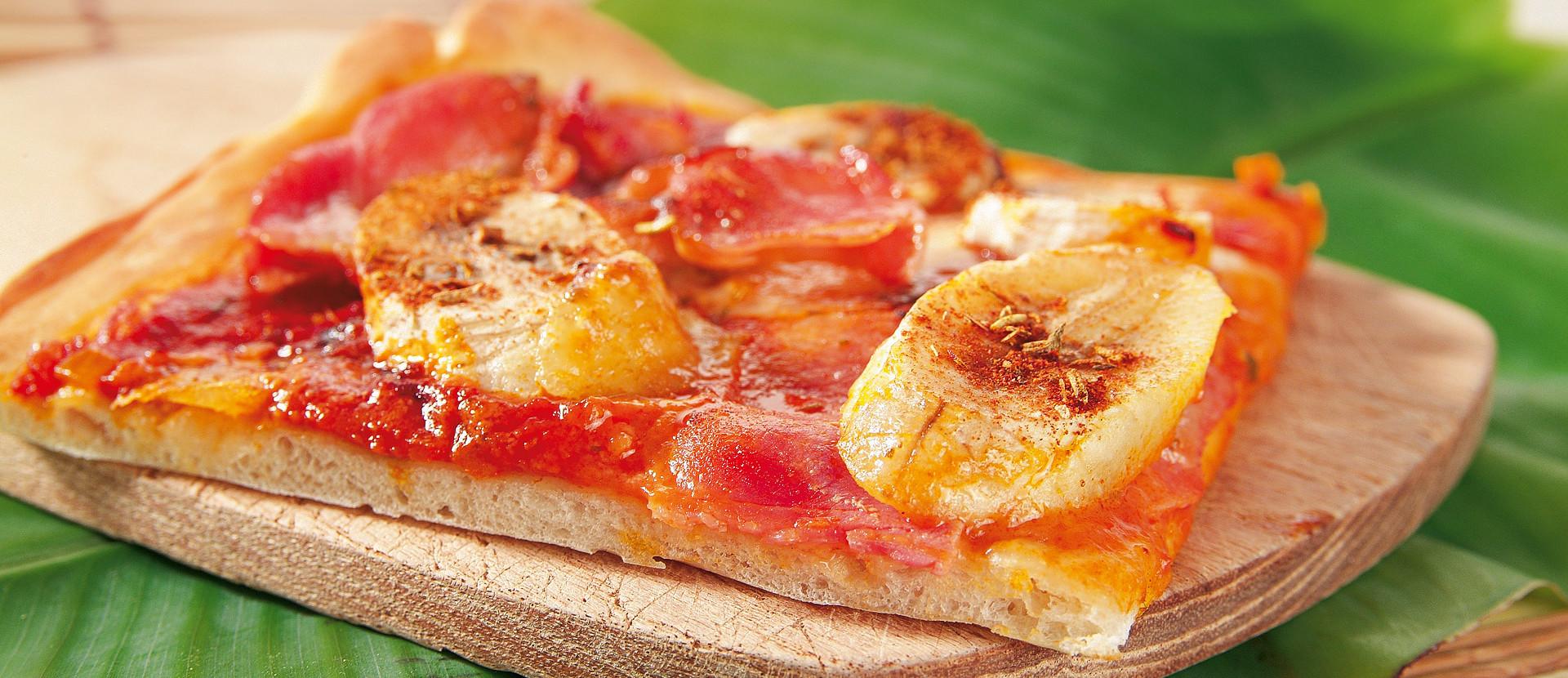Bananen Schinken Pizza