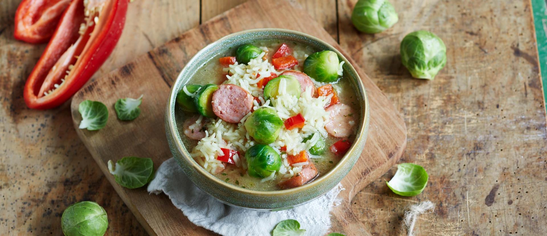 Schnelle Reissuppe