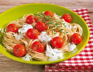 Dinkel-Spaghetti a la provencale