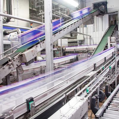Innenaufnahme der Produktionsmaschinen von immergut