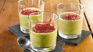 Lauch Kaese Suppe mit Julienne