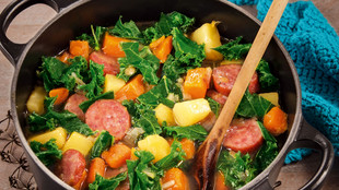 Wintertopf gruenkohl suesskartoffel chorizo