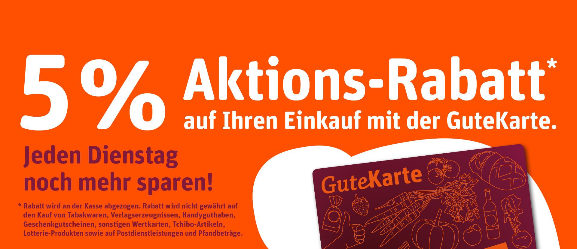 Gute Karte Rabatt-Aktions-Banner