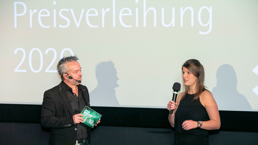 Luca Hosenfeld bei Preisverleihung des Förderpreis Goldener Zuckerhut
