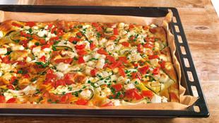 Ofenpfannkuchen mit Sommergemüse