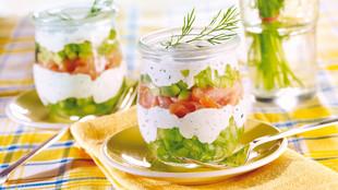 Lachs-Gurkensalat