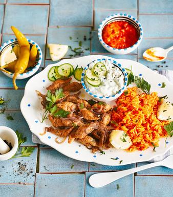 Veggie Gyros mit Ajvar Reis