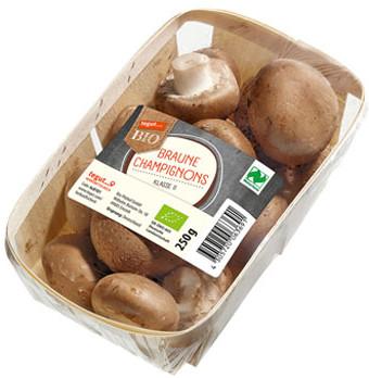 250 g Packung braune Bio Champignons