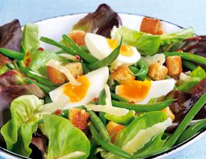 Grüne Bohnen-Salat mit Ei