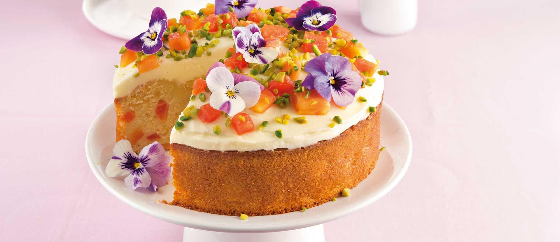 Kleiner Papaya Kuchen mit Limettenfrosting