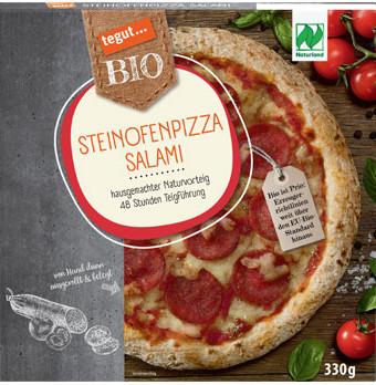 tegut... Bio Steinofenpizza Salami