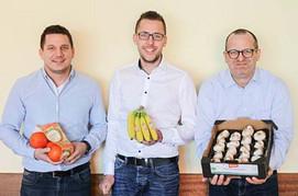 Die tegut... Obst und Gemüse Einkäufer Alexander Auth, Andre Wagner und Guido Frölich