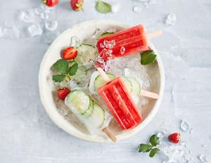 Gin-Tonic- & Erdbeer-Limes-Ice-Pops