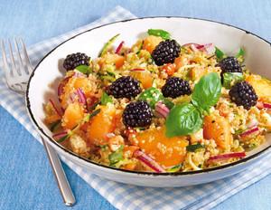 Melonen-Quinoa-Salat mit Brombeeren