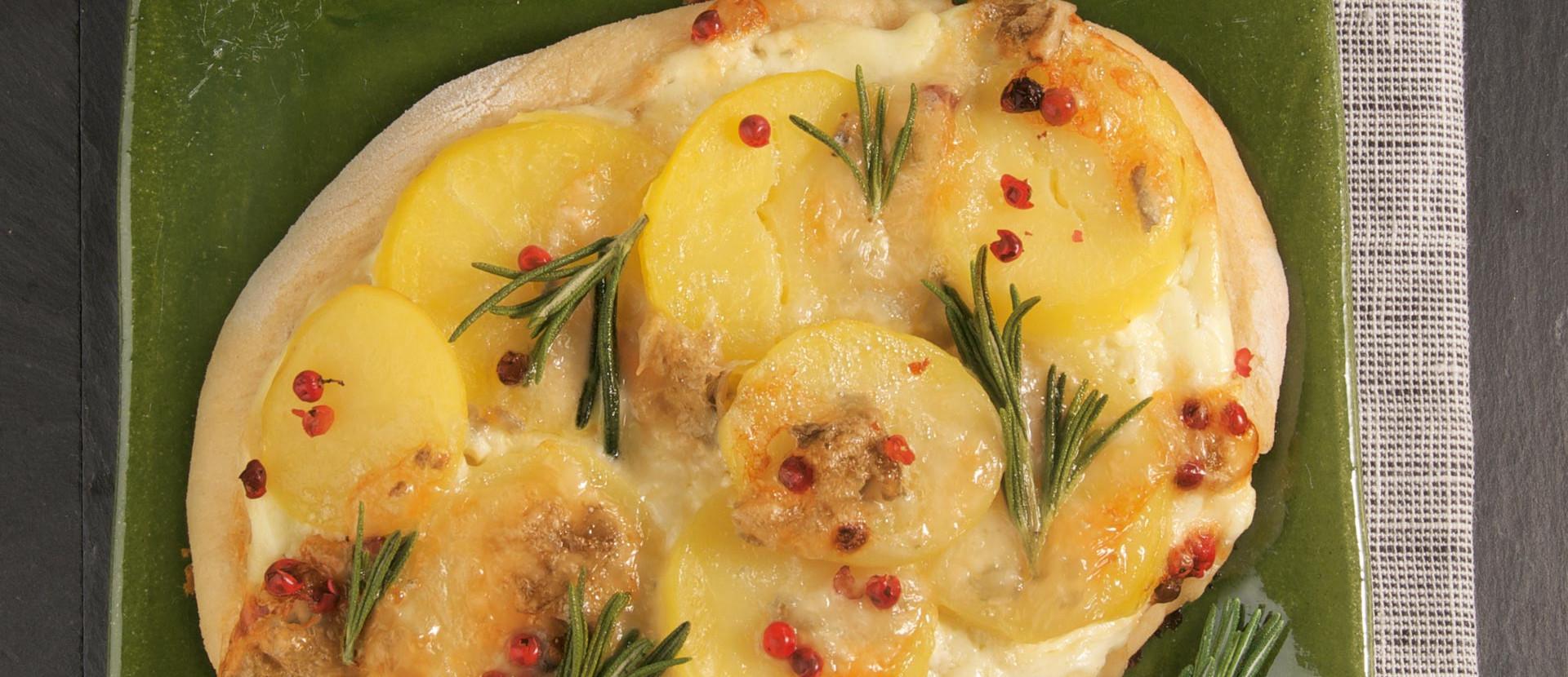 Kartoffel Fladen mit Gorgonzola