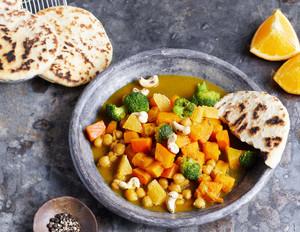 Kürbis-Curry mit Cashewkernen