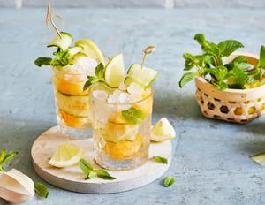 Ginger-Spritz mit Melone und Gurke
