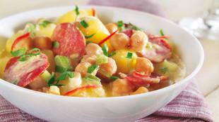 Kartoffelragout mit Kichererbsen und Chili