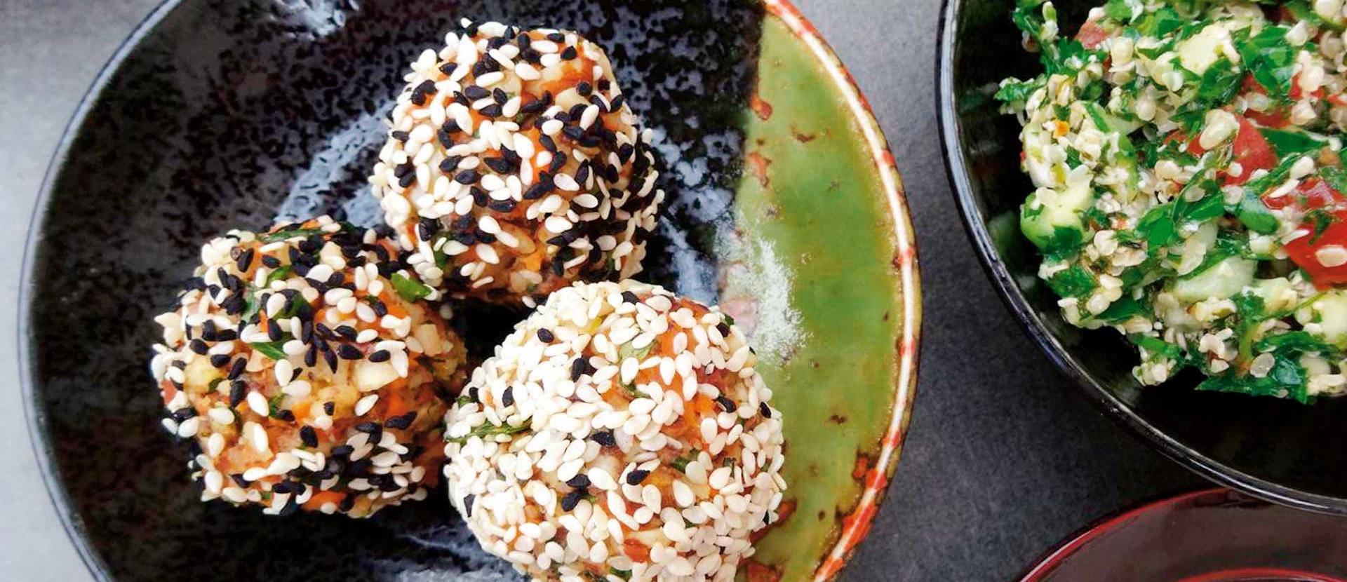 Falafel Taboule Tahini Sauce