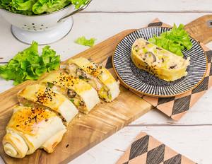 Käse-Schinken-Strudel