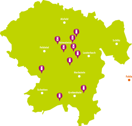 Übersichtskarte von allen Faire Milch Höfen