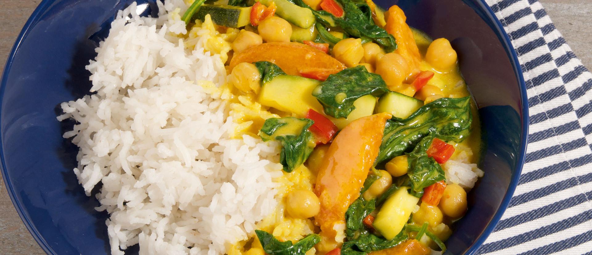 Curry Aprikosen Spinat