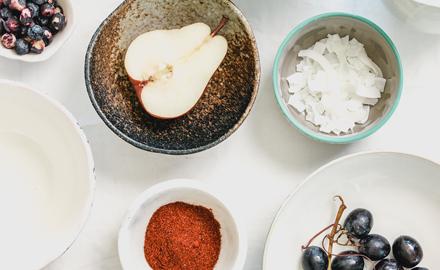 Tipps udn Tricks Birne Trauben Kokos