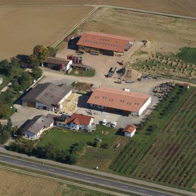 Luftaufnahme von Christians Erdbeer-Geflügelhof